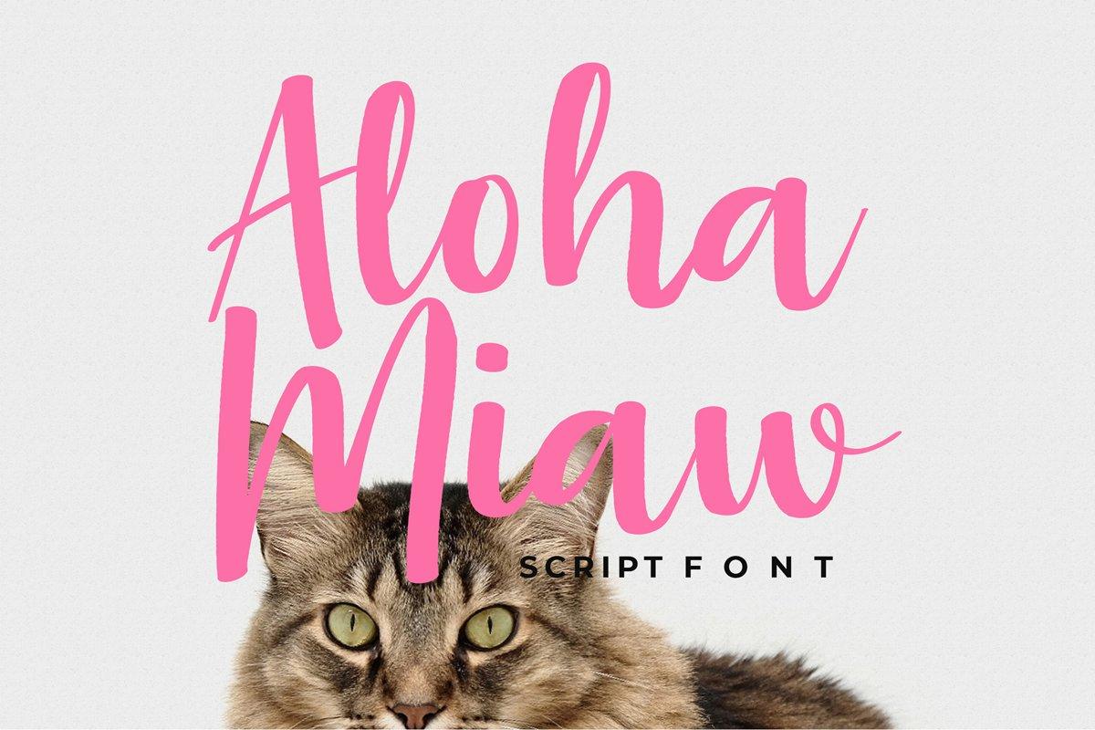 Aloha Miaw Script Font example image 1