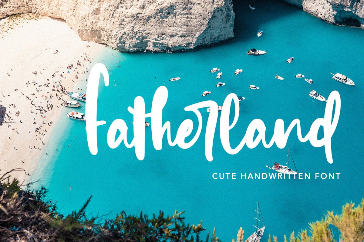 Fatherland - Cute Handwritten Font example image 1