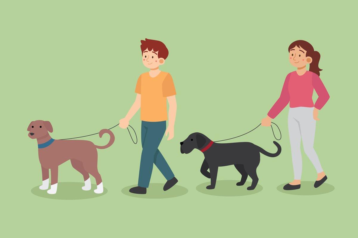 People Walking the Dog example image 1