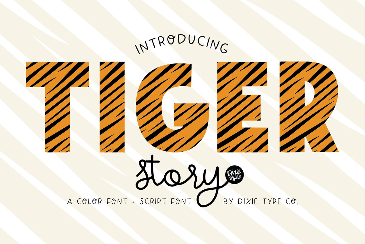 TIGER STORY Color Font Duo example image 1