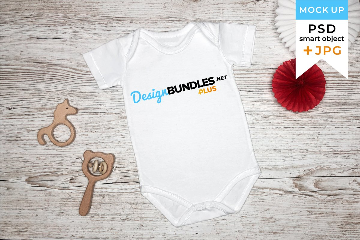 Baby Bodysuit Mockup in PSD and JPG Files example image 1