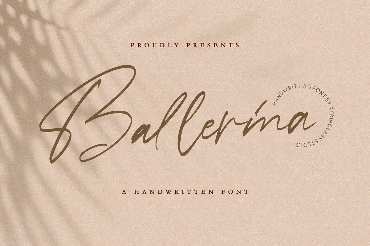 Ballerina - Signature Script Font example image 1
