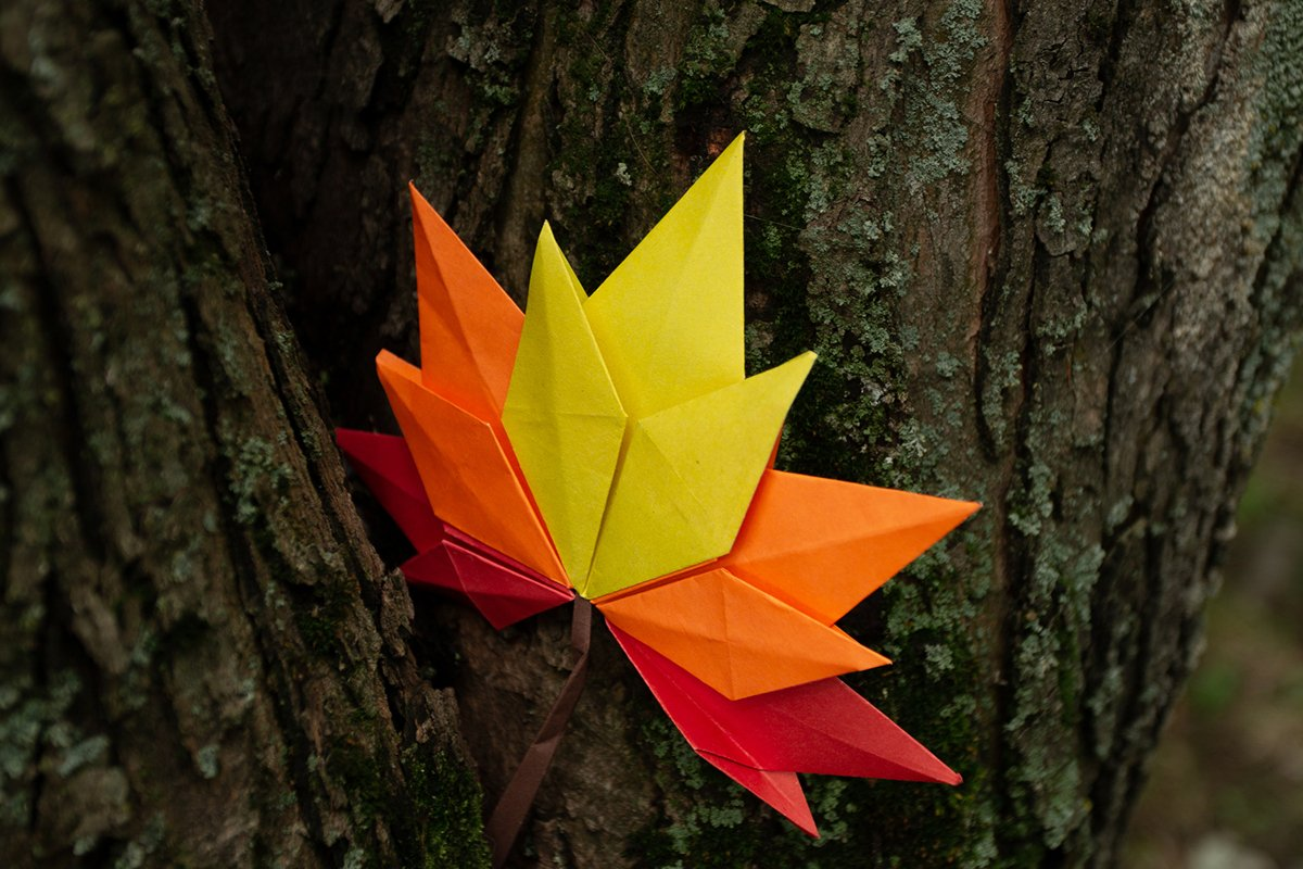 Autumn concept background traditional paper craft handmade example image 1