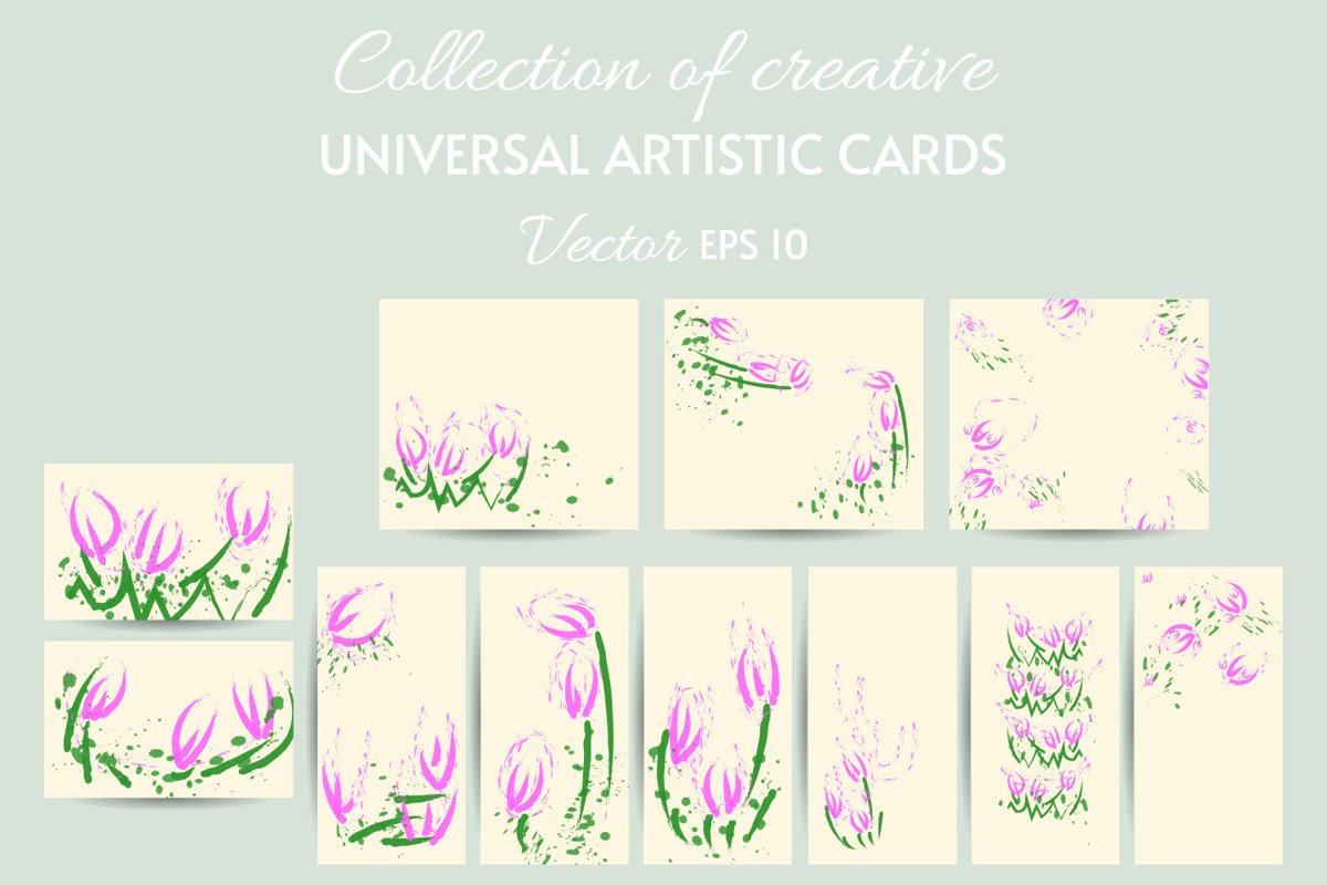 Flowers Clipart Set, Floral Design Elements eps 10 example image 1