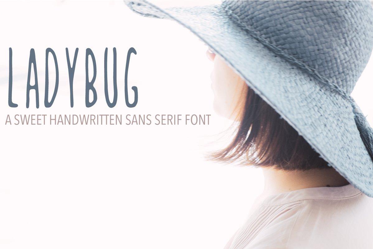 Ladybug Handwritten Font example image 1