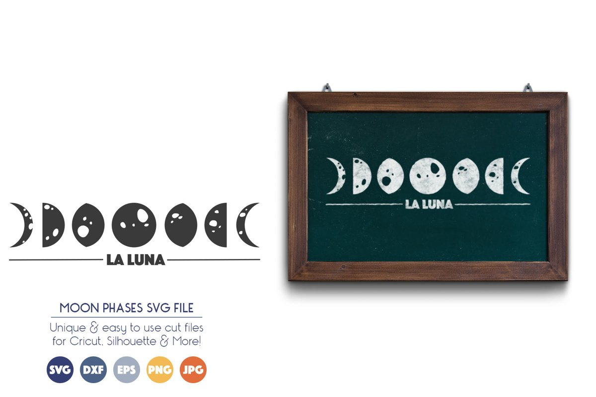 Moon SVG Cut Files - La Luna example image 1