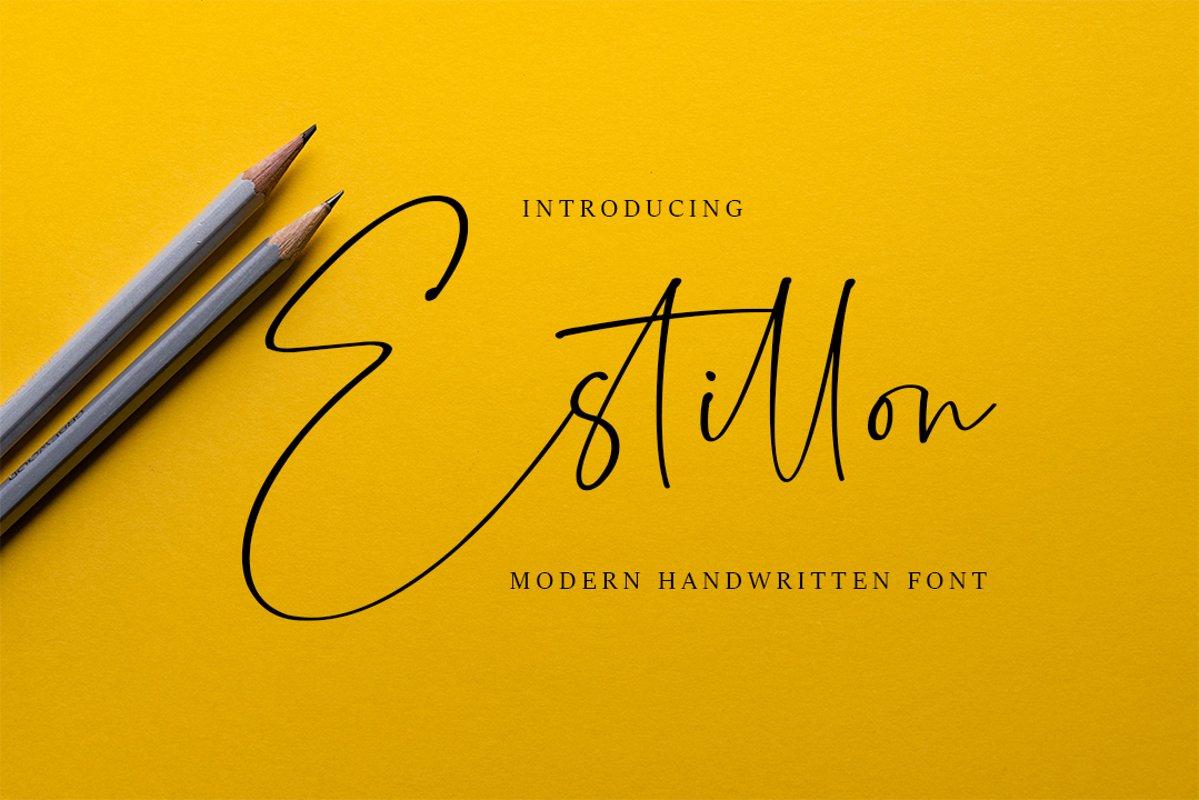 Estillon - Handwritten Font example image 1