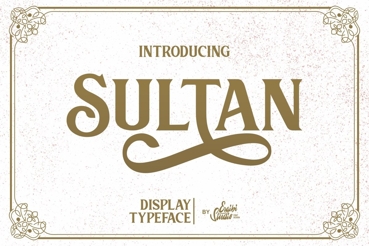 Sultan - Typeface Font example image 1