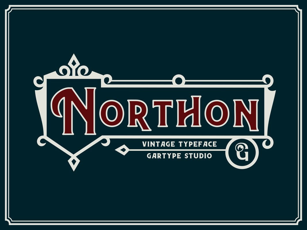 Northon Font and Ornament example image 1