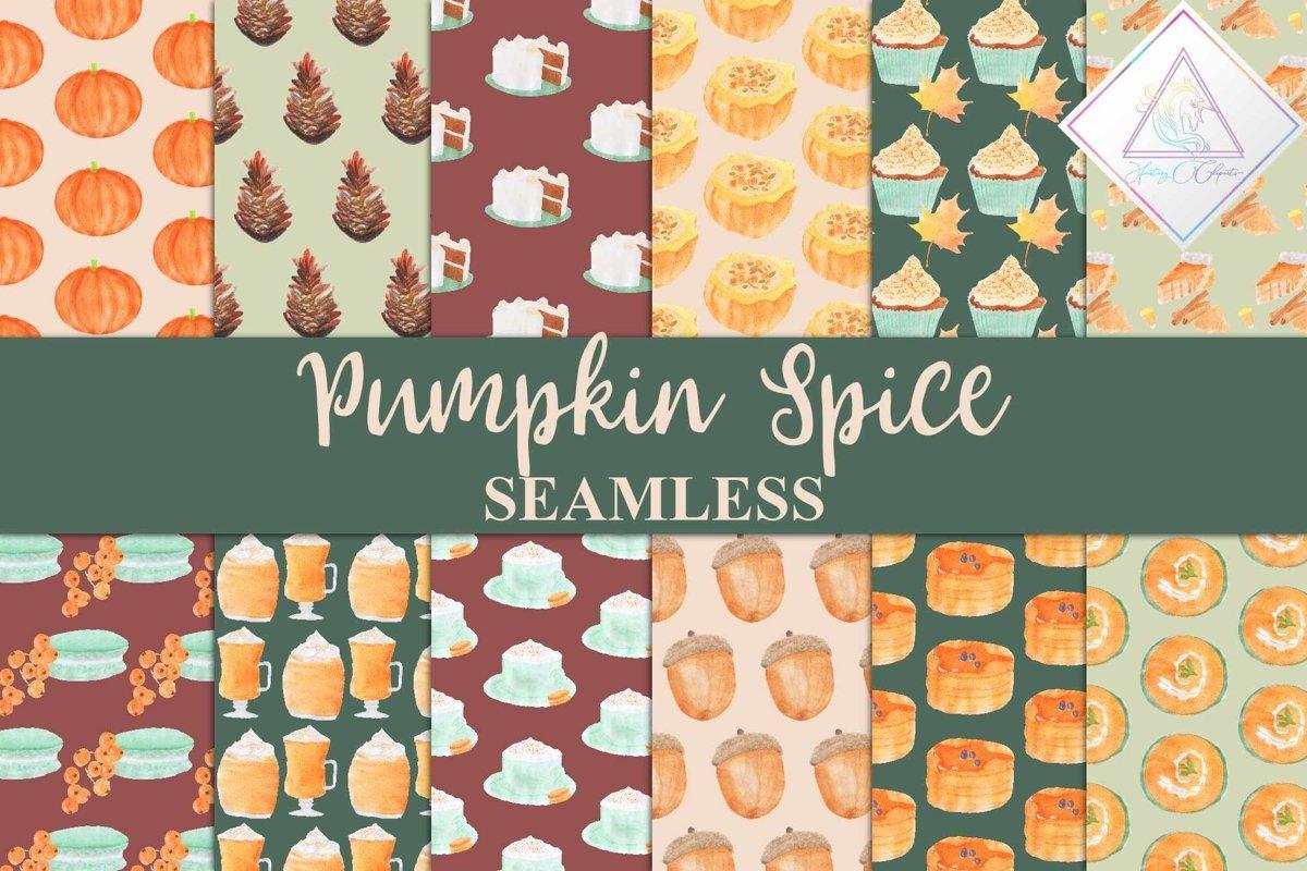 Pumpkin Spice Digital Paper example image 1