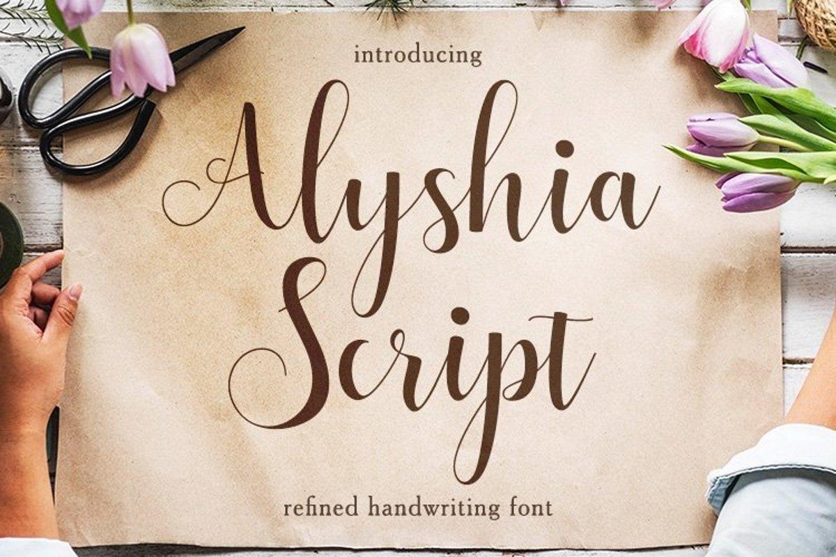 Web Font Alyshia Script example image 1