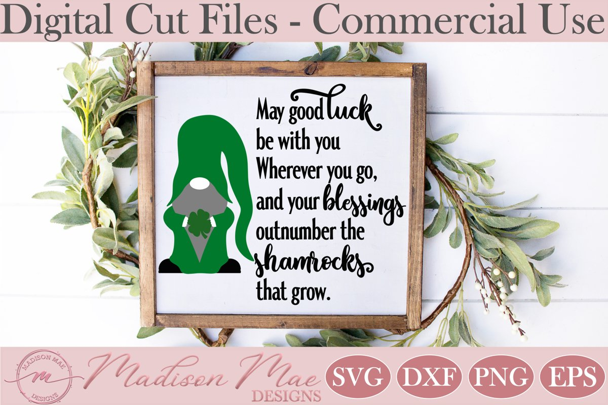 Irish Blessing SVG, Saint Patrick's Day Gnome SVG example image 1