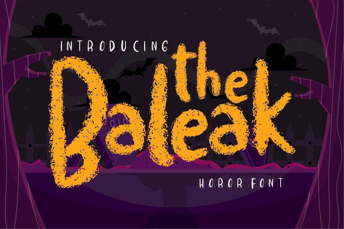 The baleak   Decorative Horror Font example image 1