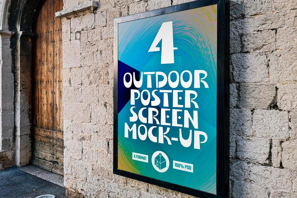 Outdoor Poster Screen Mock-Ups example image 1