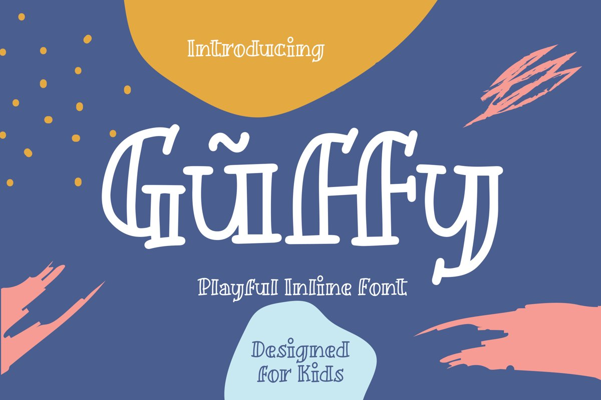 Guffy - Playful Inline Font example image 1