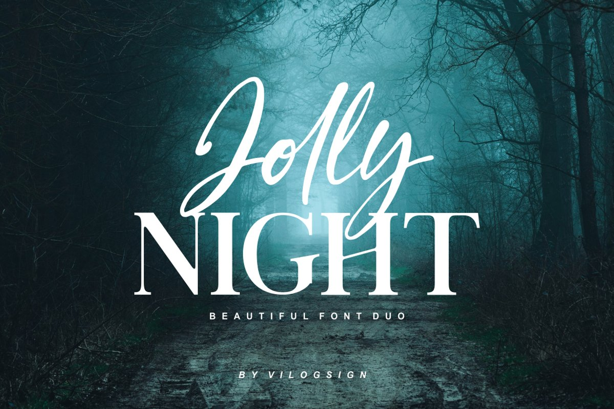 Jolly Night Font Duo example image 1