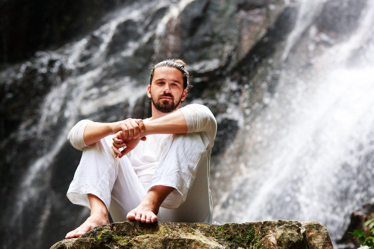 Man doing meditation yoga example image 1