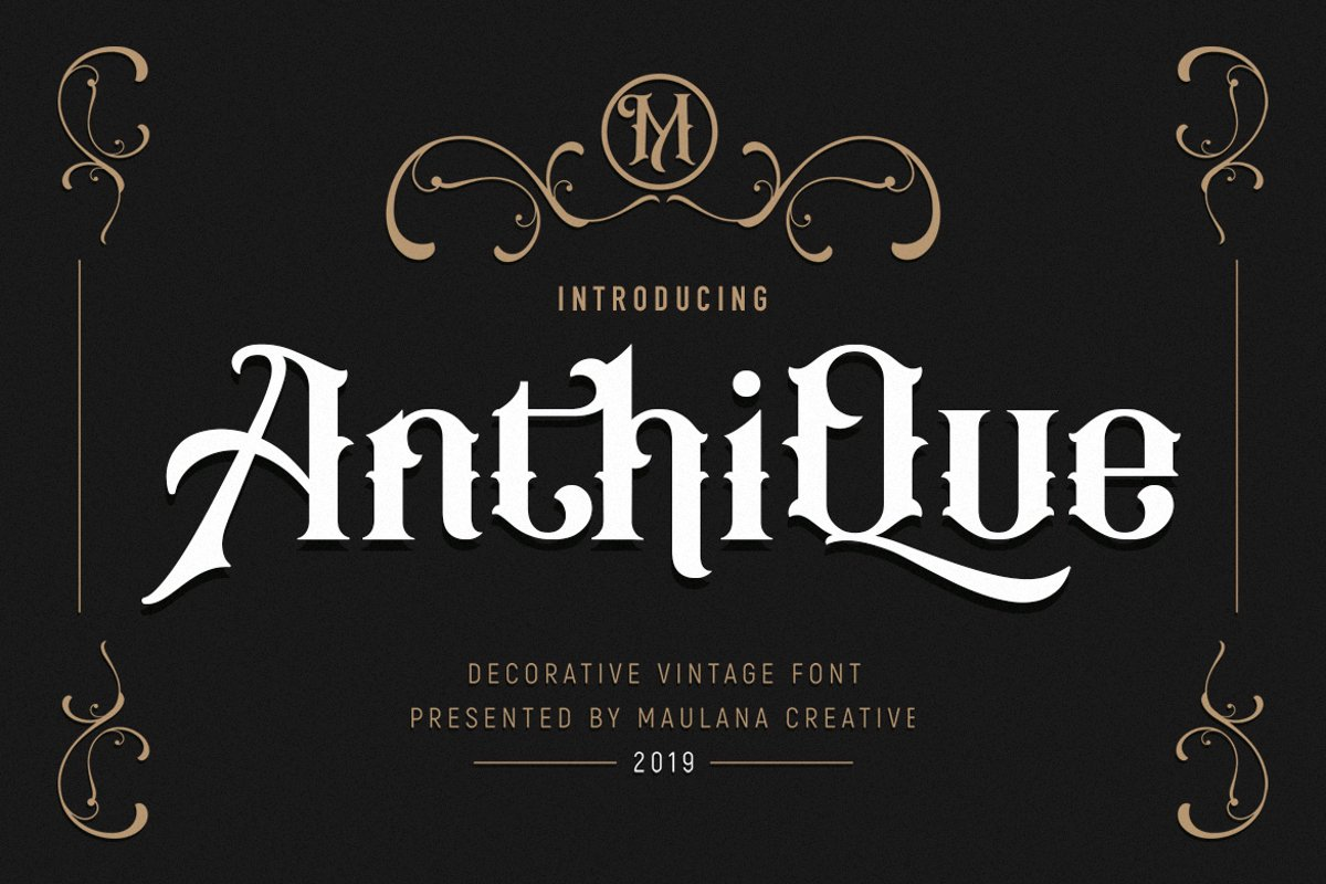 Anthique - Vintage Typeface example image 1