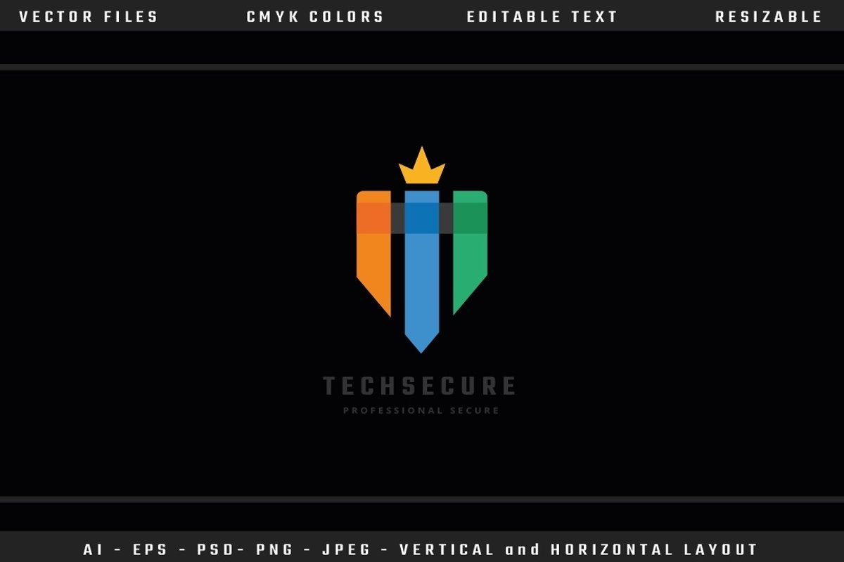 Tech Secure Letter T Logo example image 1