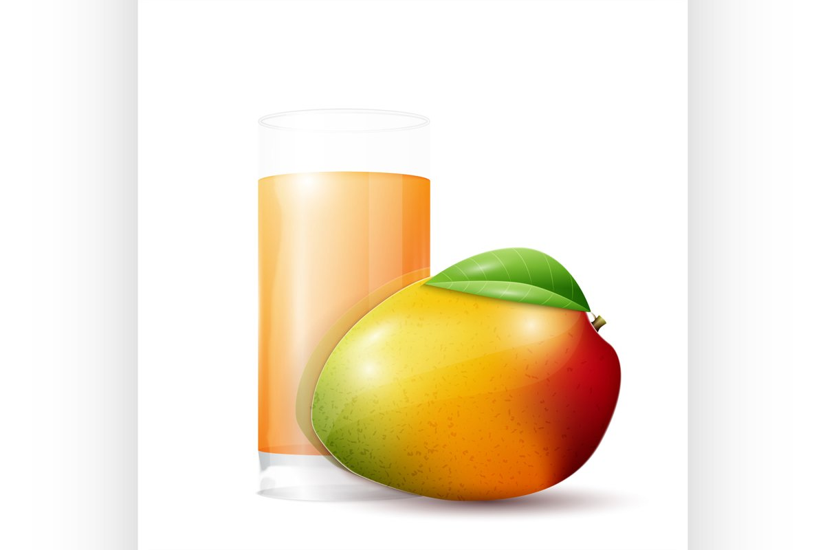 Mango and glass of juice example image 1