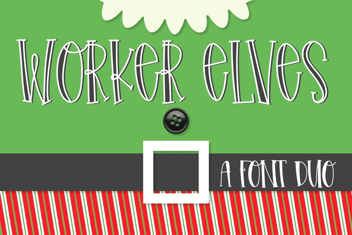 Worker Elves - A Font Duo example image 1