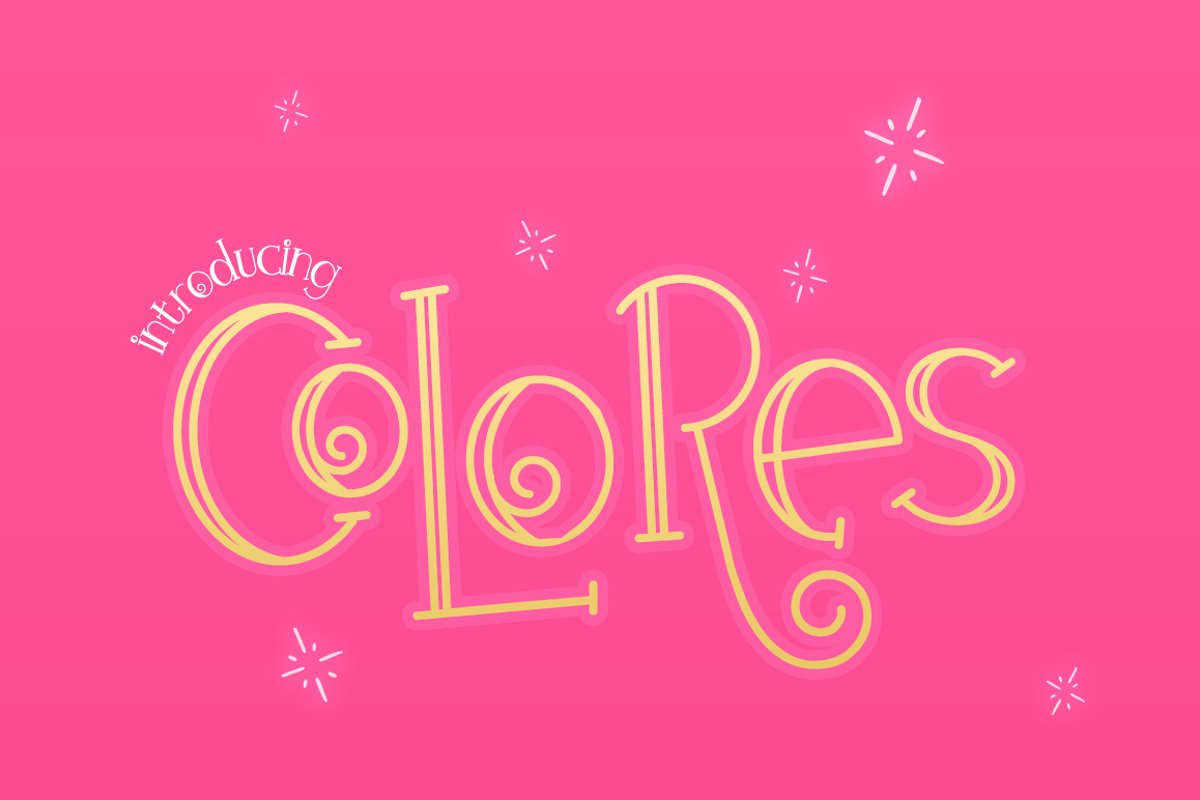 Colores Font Duo example image 1