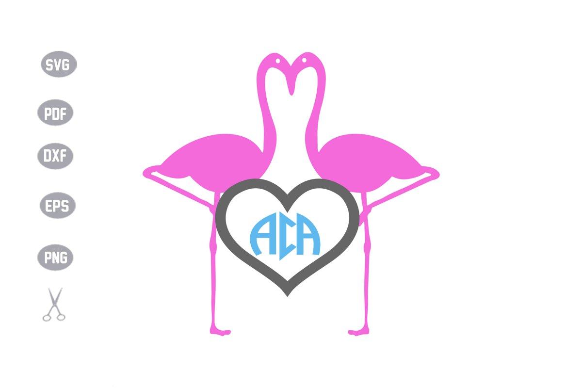 Flamingo Monogram SVG example image 1