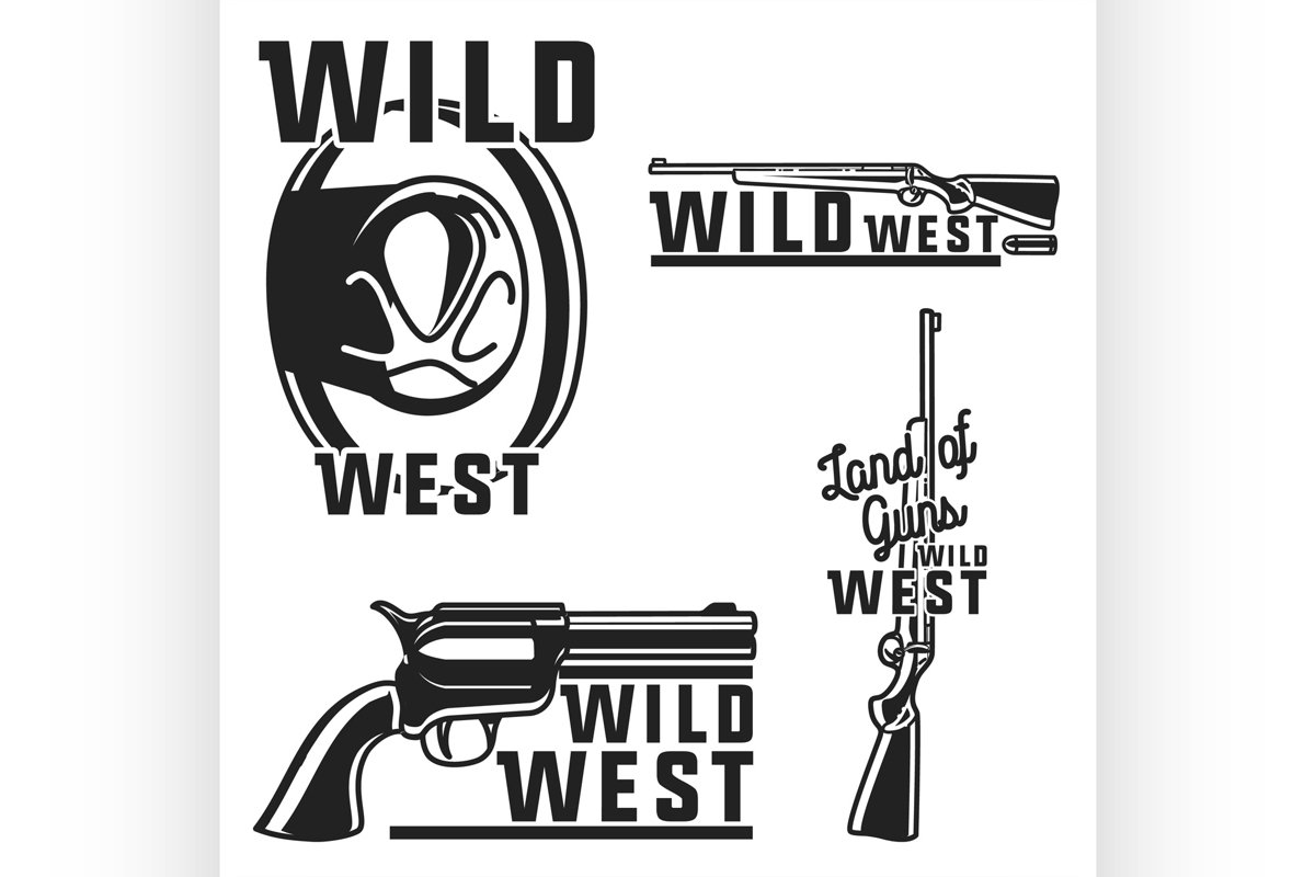 Vintage wild west emblems example image 1