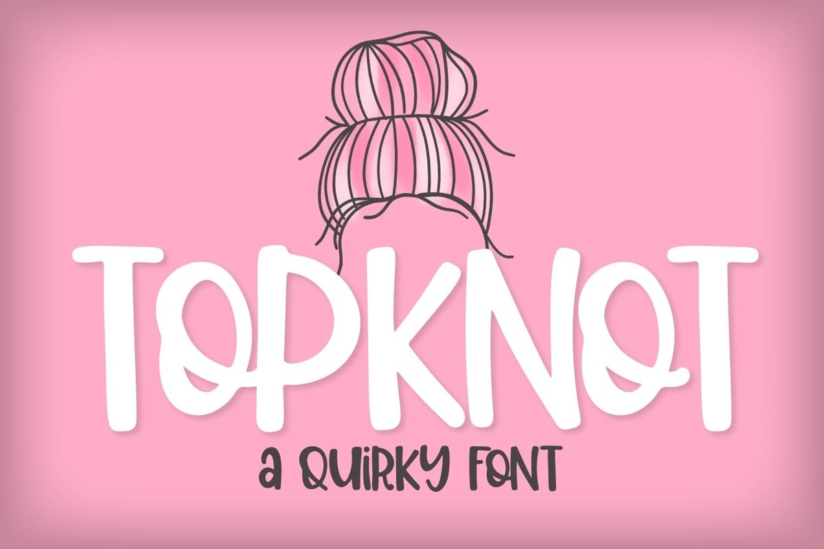 Top Knot - A Quirky Caps Font example image 1