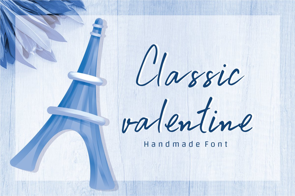 Classic valentine - A cute handwritten font example image 1