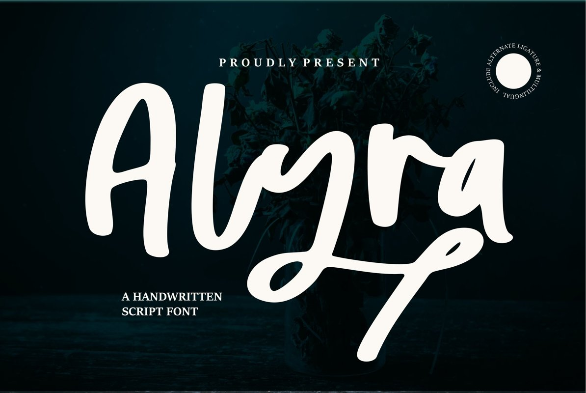 Alyra - A Handwritten Script Font example image 1