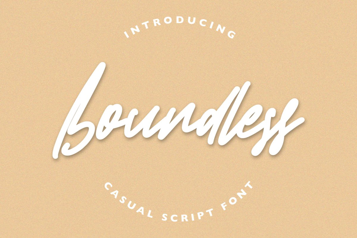Boundless - Casual Script Font example image 1