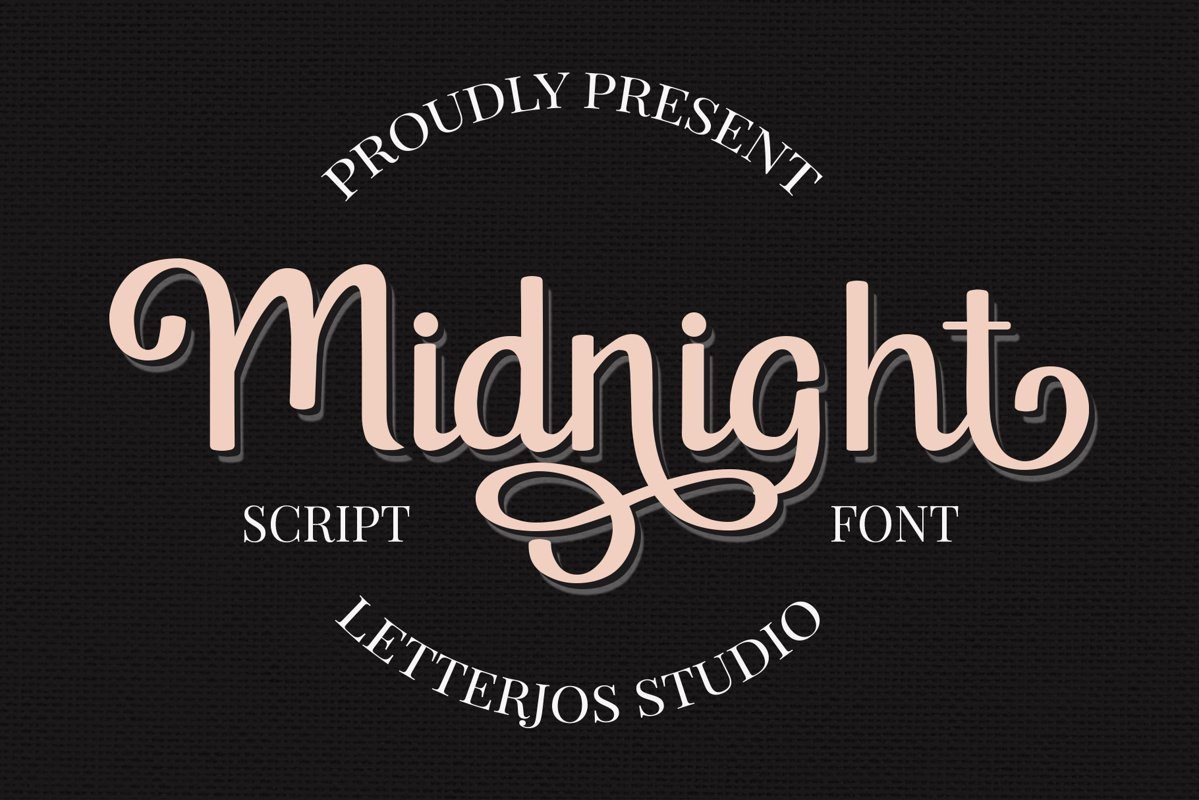 Midnight Script Font example image 1