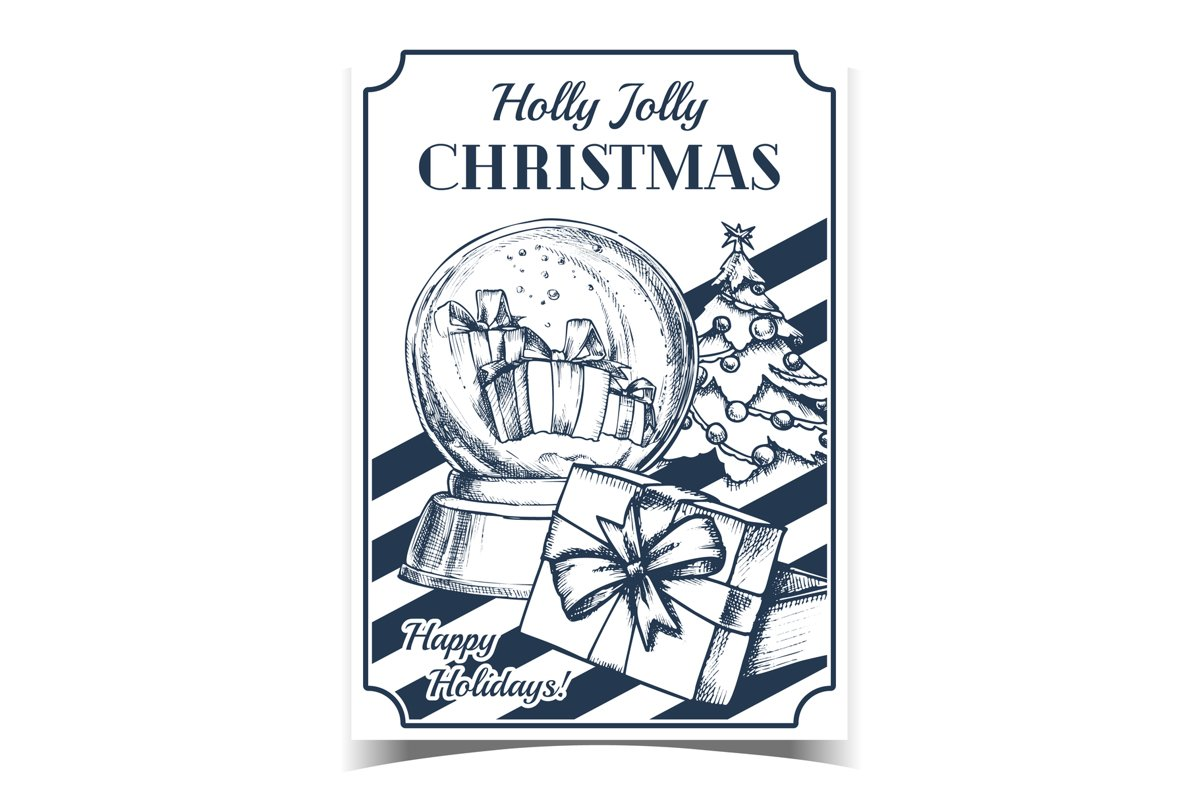 Christmas Celebrative Advertising Poster Vector example image 1