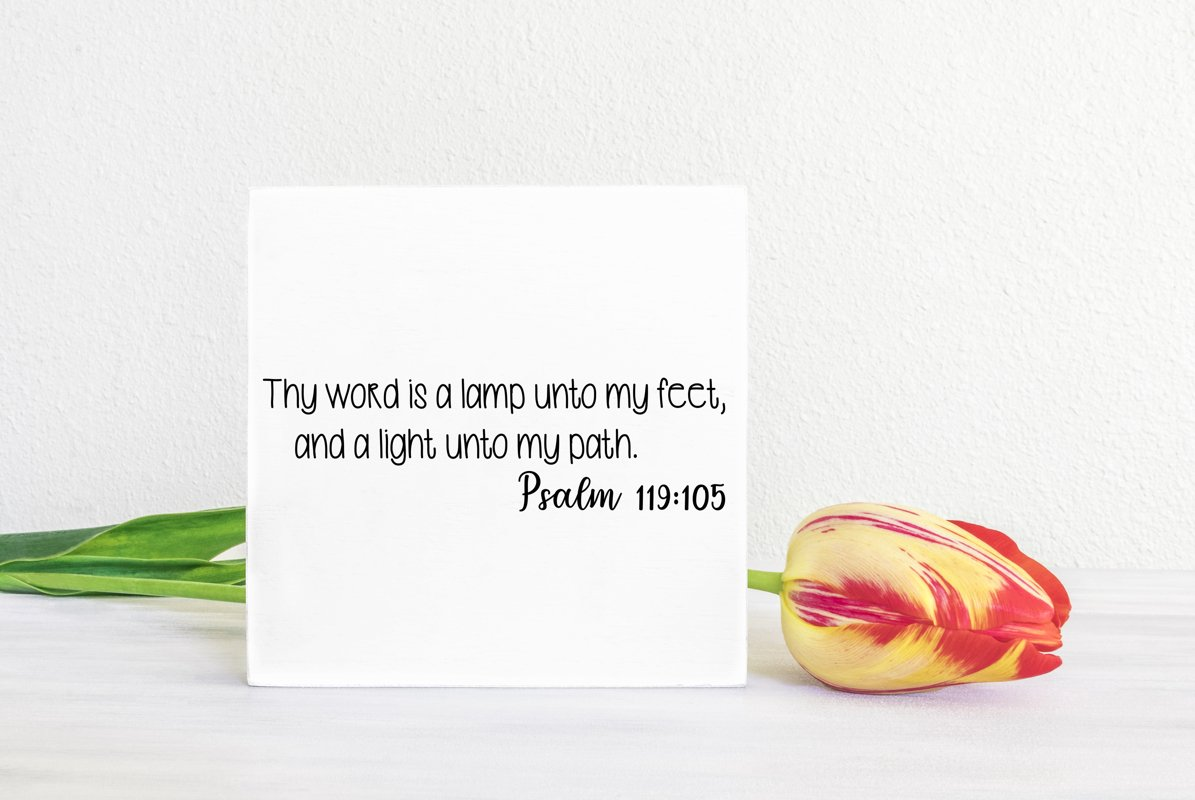 Psalm 119 Cut File - SVG & PNG example image 1