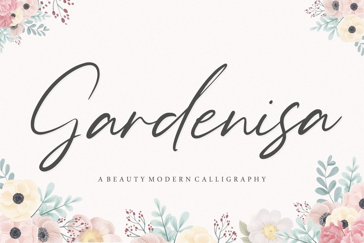Gardenisa Beauty Modern Calligraphy Font example image 1