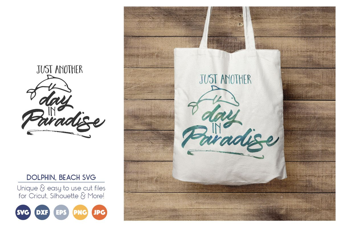 Summer Paradise - Dolphin SVG Cut Files example image 1