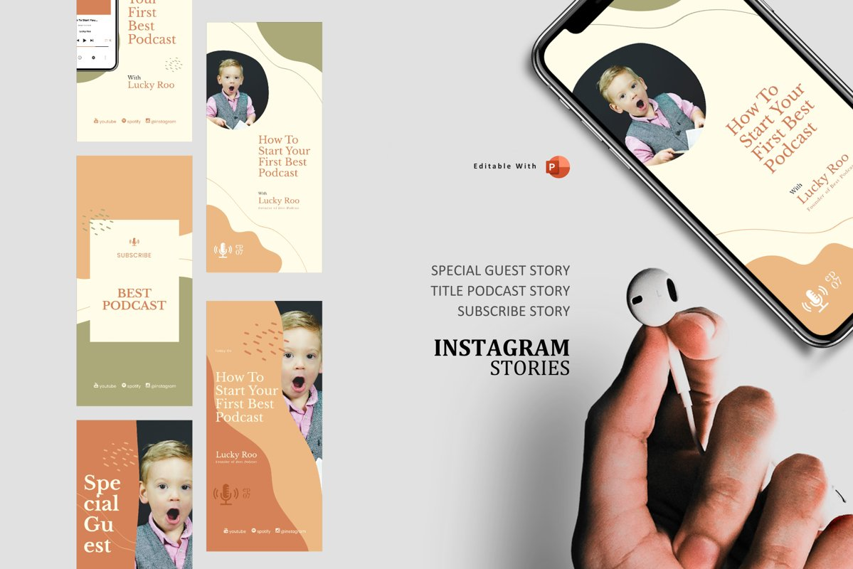Podcast Instagram Stories and Post - Creativity Podcaster example image 1