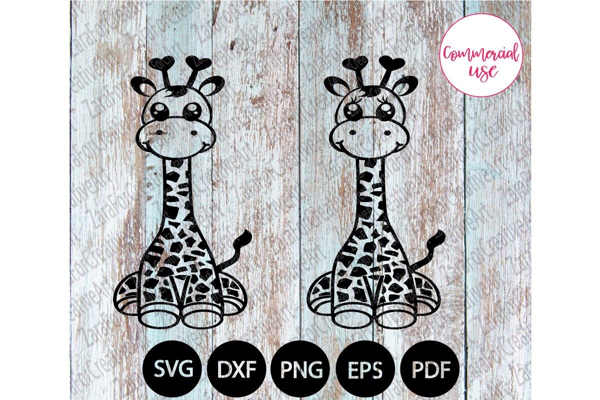 cute giraffe svg example image 1
