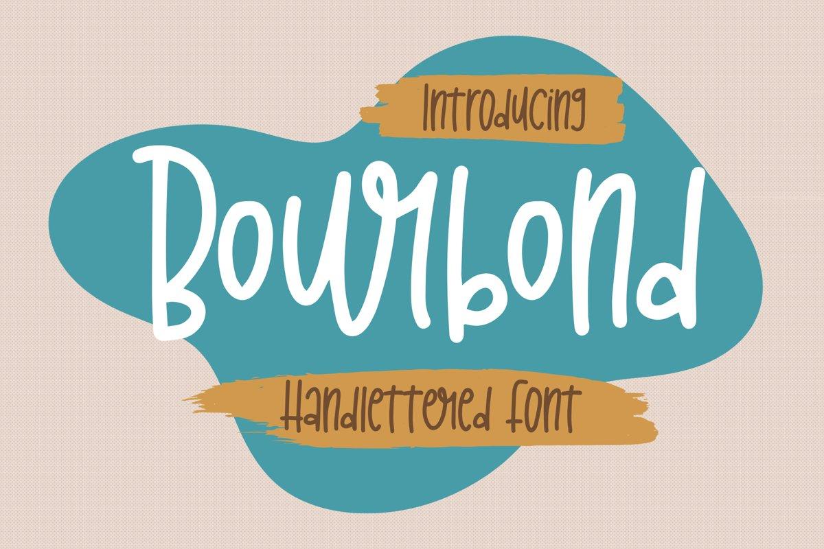 Bourbond - Handlettered Font example image 1