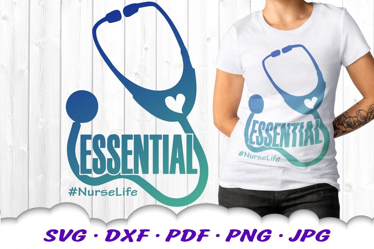 Medical Nurse Stethoscope SVG DXF Cut Files example image 1