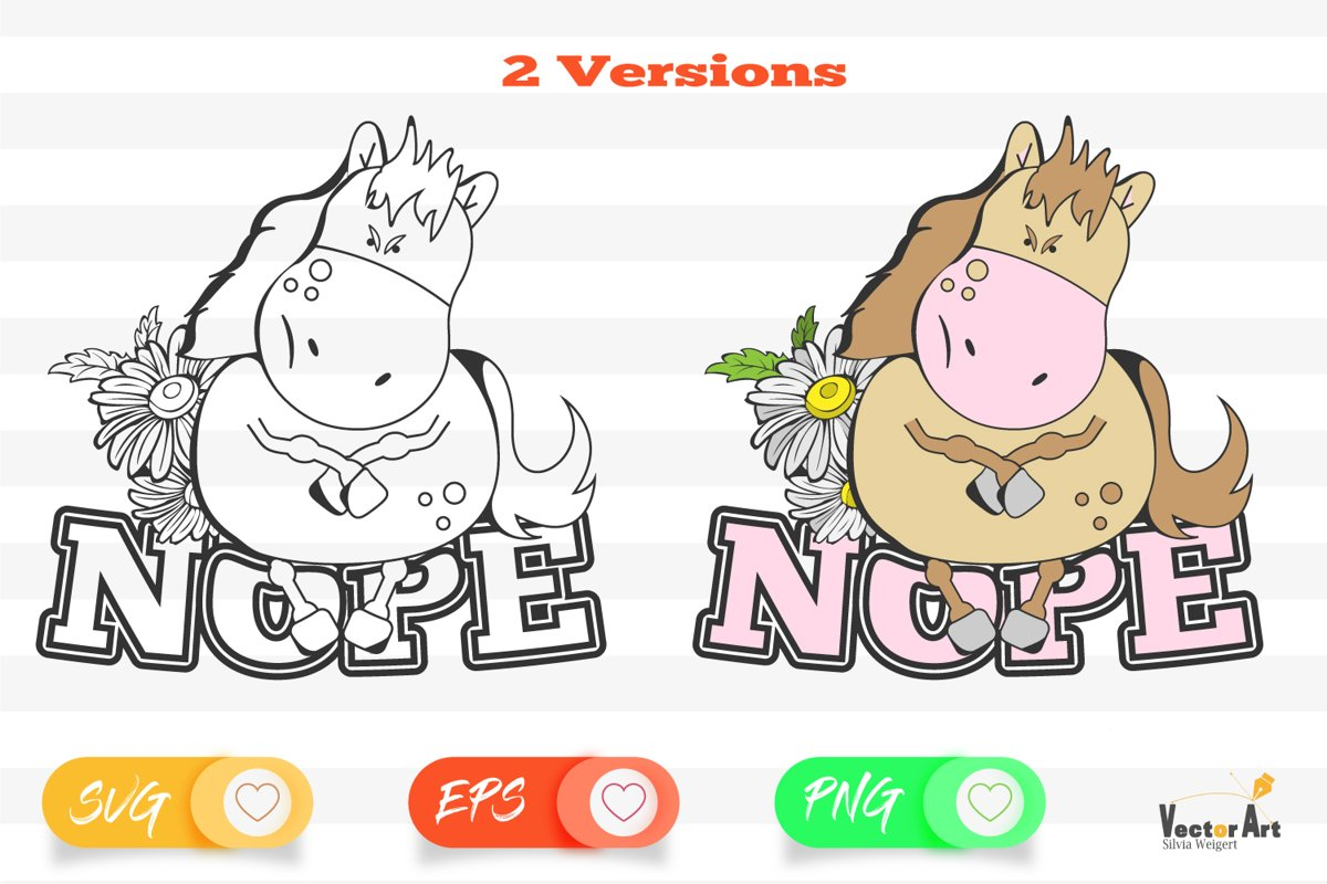 Nope - Cut File 2 Versions example image 1