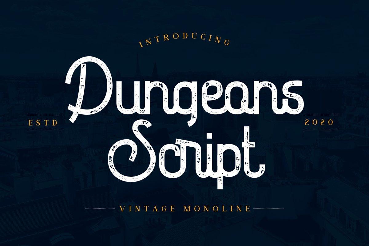 Dungeons - Vintage Monoline Script Font example image 1