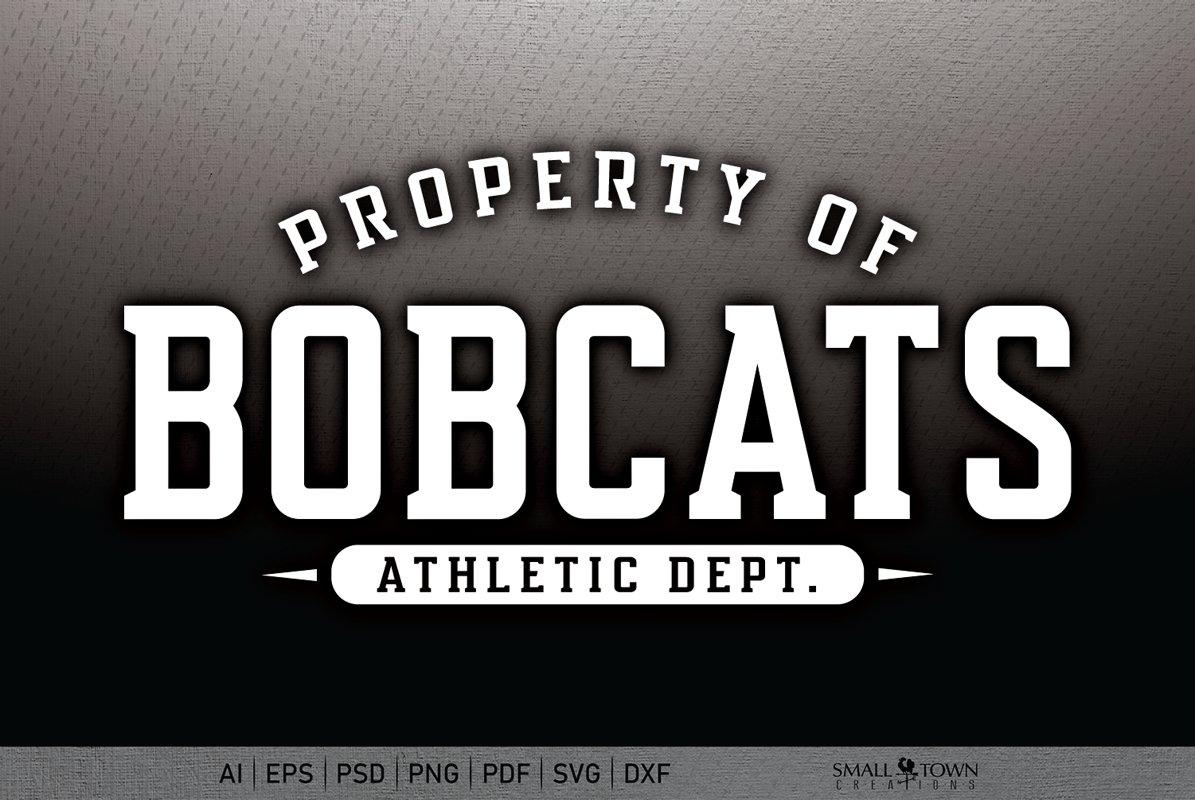 Bobcat, Bobcat Athletics, Bobcat svg, PRINT, CUT, DESIGN example image 1