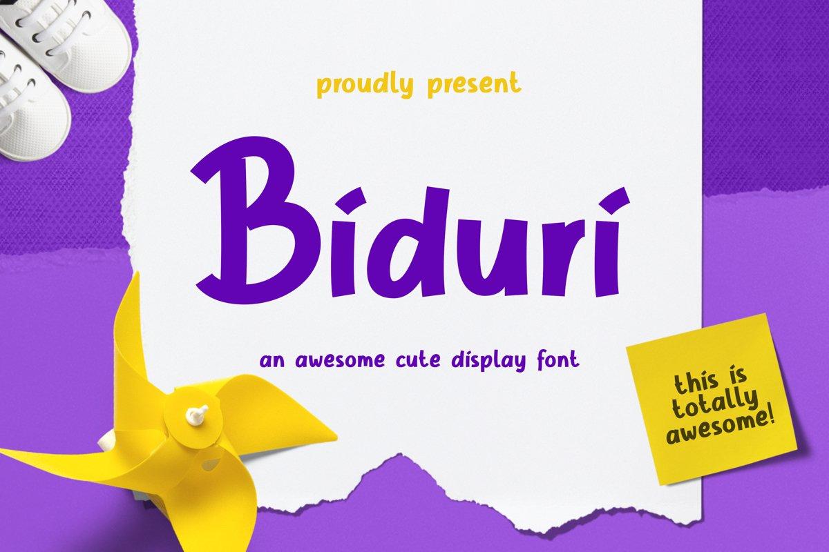 Biduri Display Font example image 1