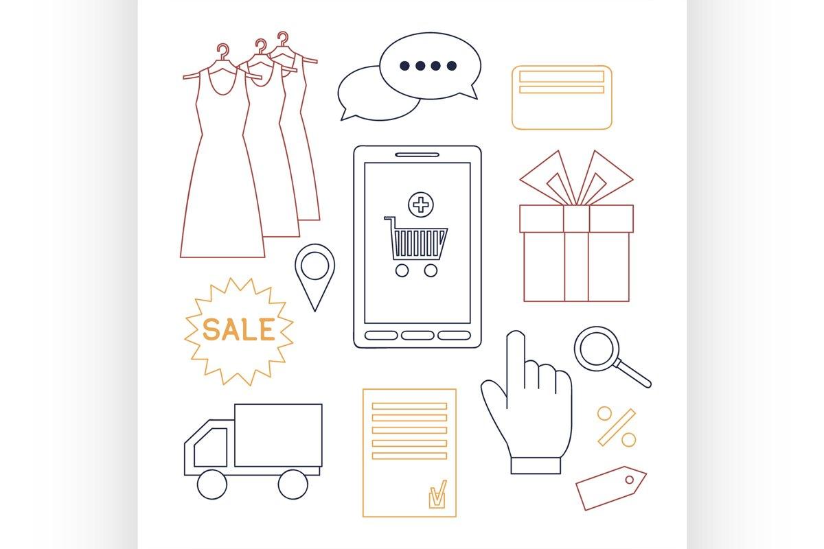 Online shopping set example image 1