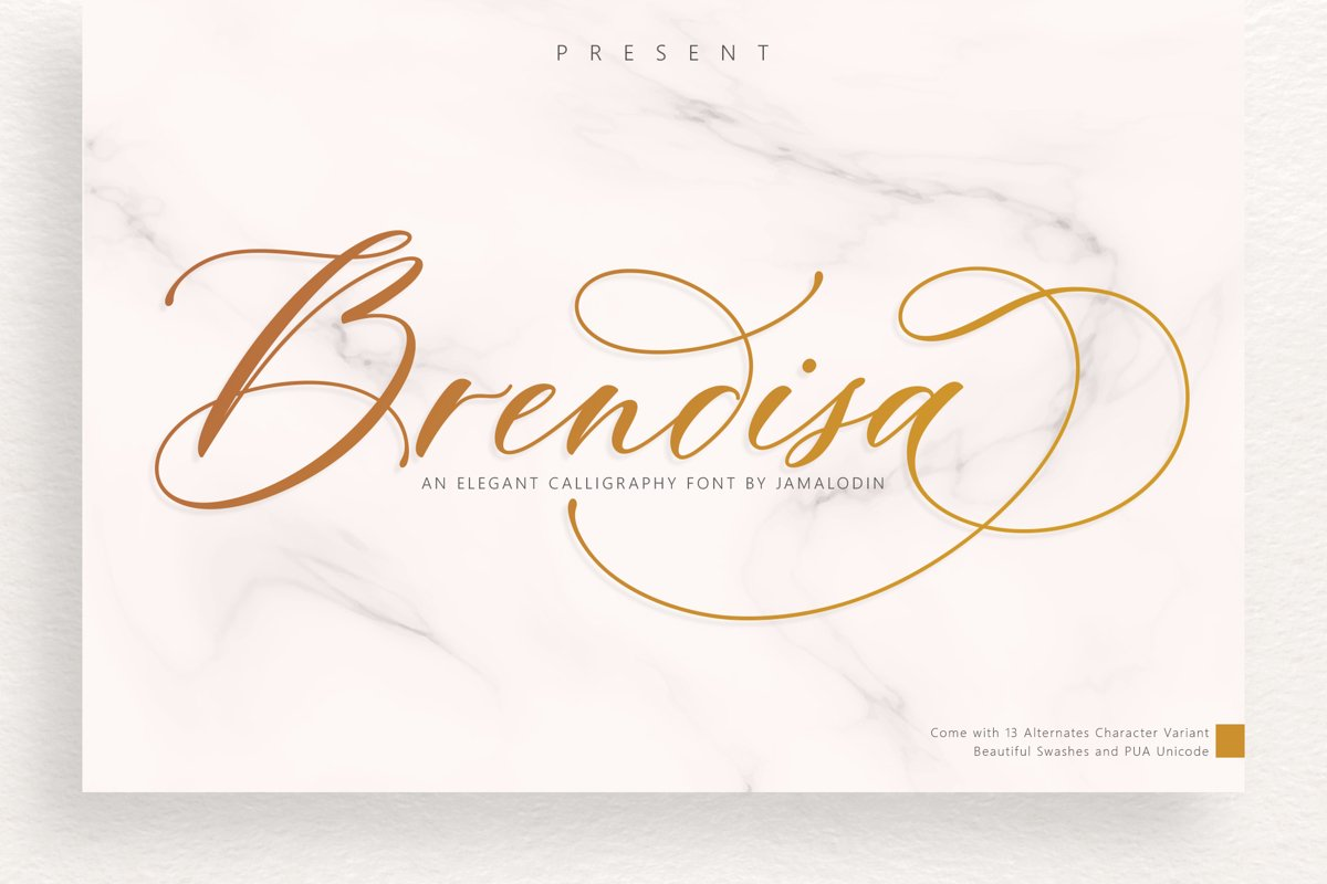 Brendisa Script example image 1