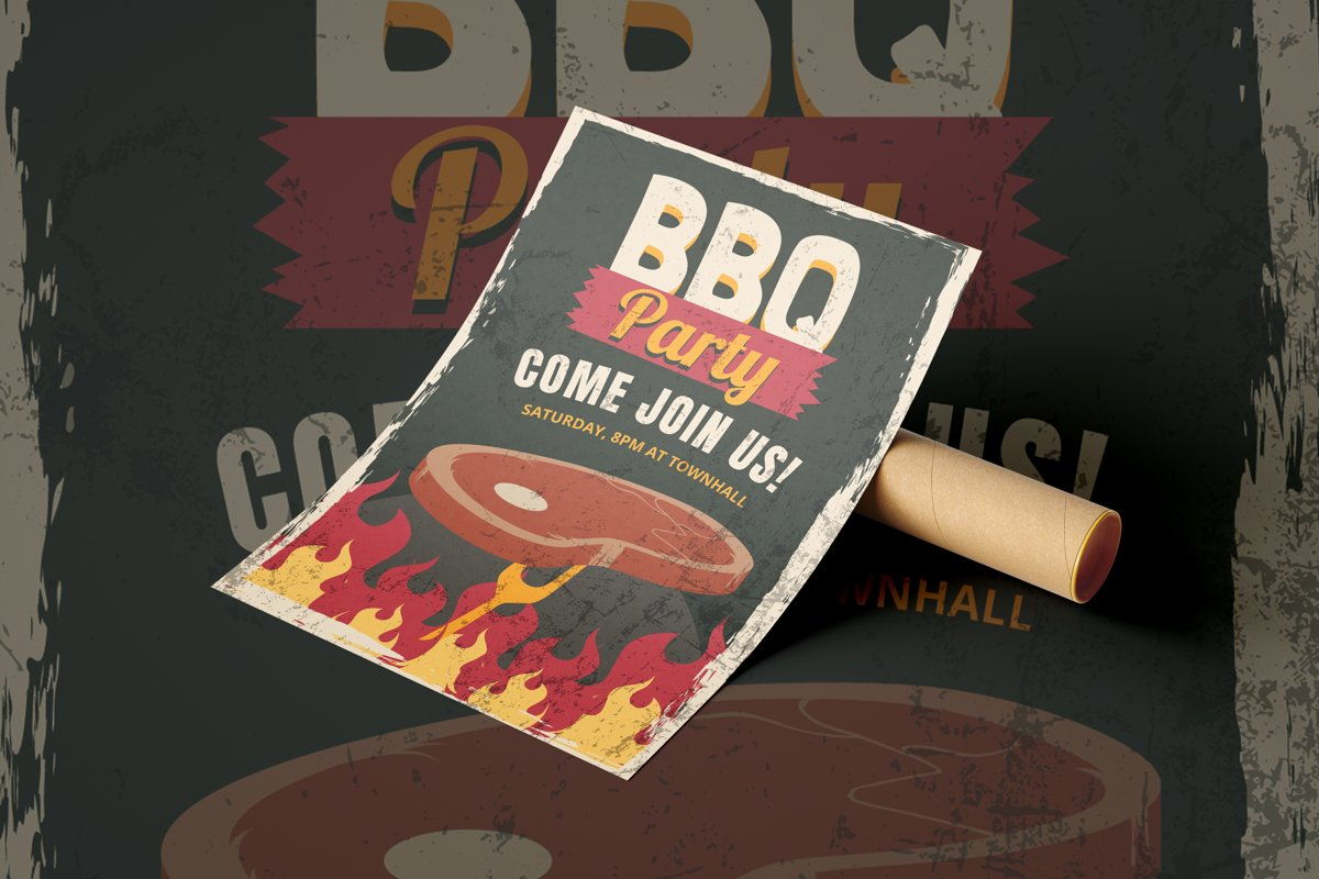 BBQ Party - Flyer Poster example image 1