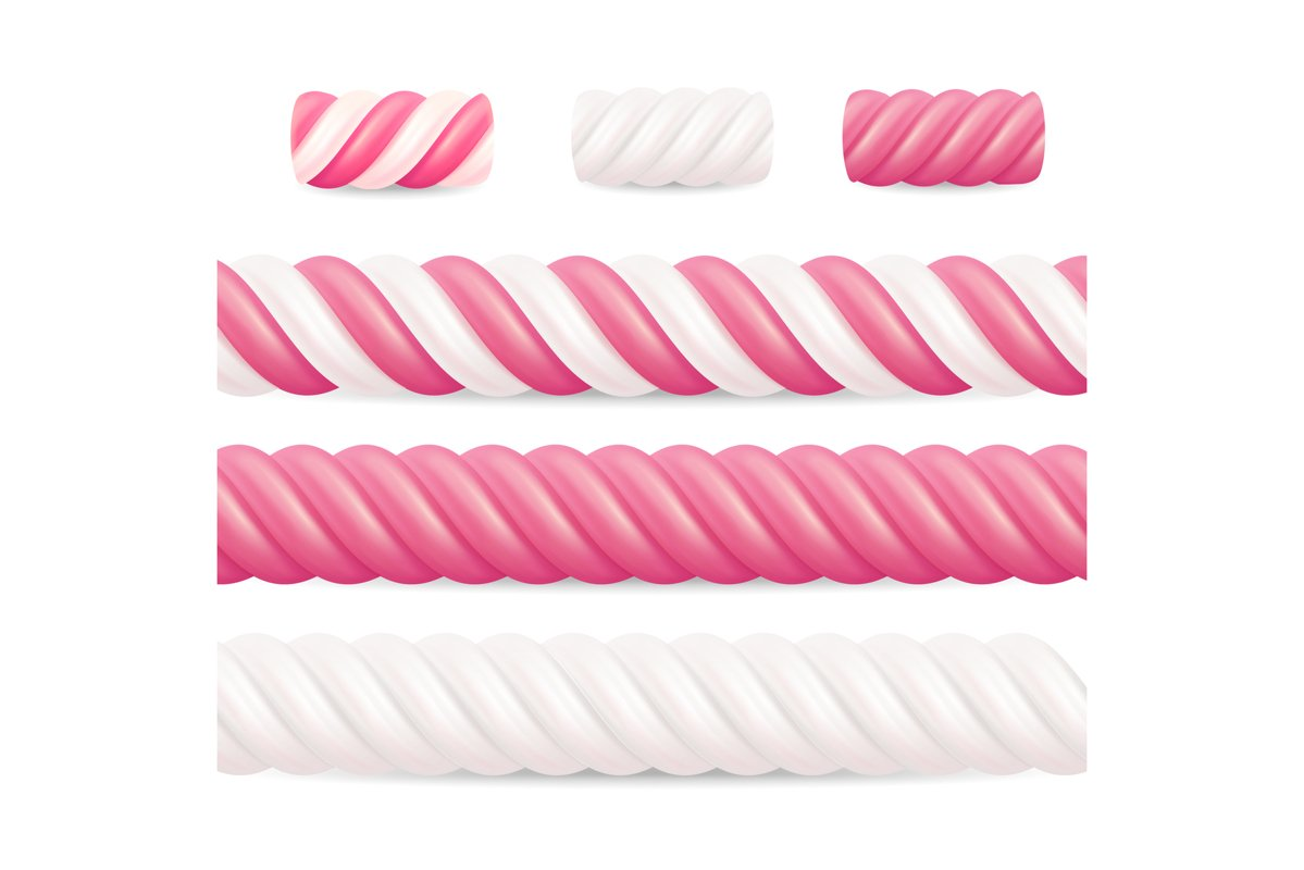 Realistic Marshmallow Candy Vector. example image 1