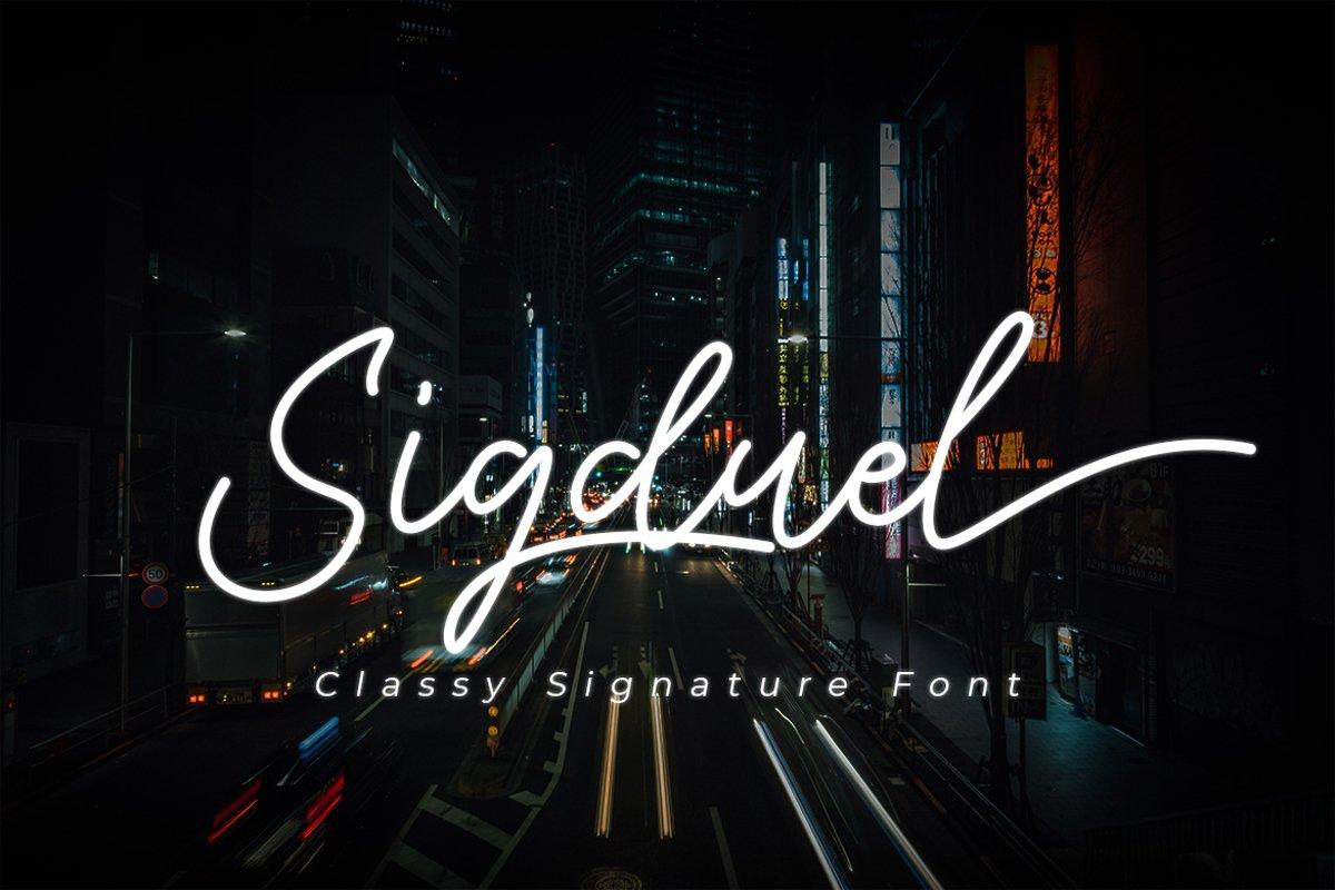 Sigduel | Signature Font example image 1